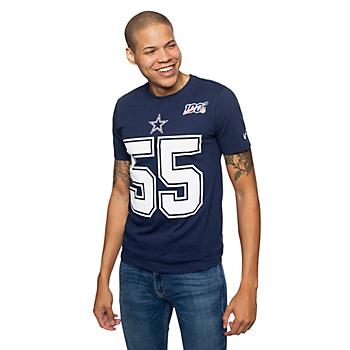 Dallas Cowboys Mens Leighton Vander Esch #55 NFL 100 Nike Player Pride T-Shirt