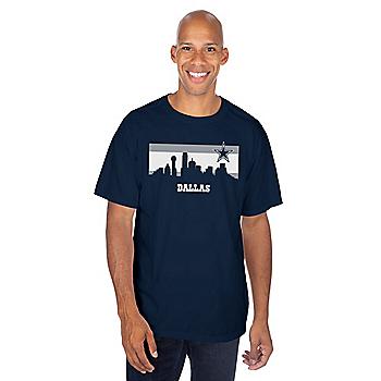 Dallas Cowboys Mens Stripe Skyline Short Sleeve T-Shirt