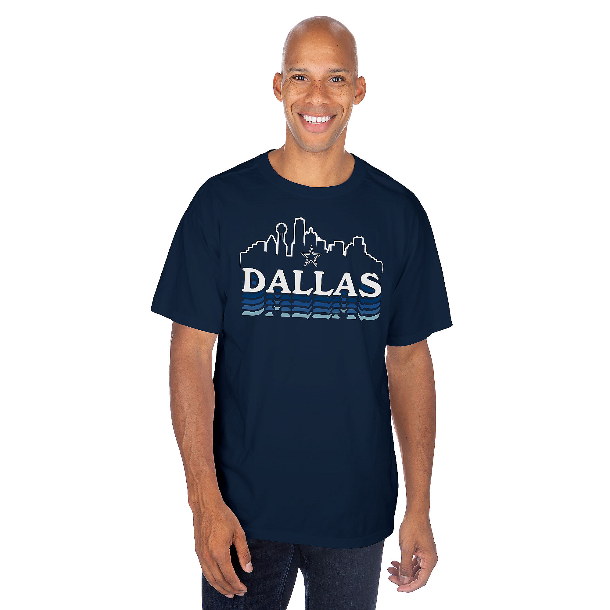 Dallas Cowboys Mens Dallas Skyline Short Sleeve T-Shirt