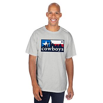 Dallas Cowboys Mens Flag Box Skyline Short Sleeve T-Shirt