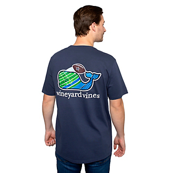 Dallas Cowboys Vineyard Vines Mens Uprights Whale Short Sleeve T-Shirt