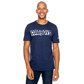 Dallas Cowboys Nike Mens Cotton Mezzo Crew Short Sleeve T-Shirt