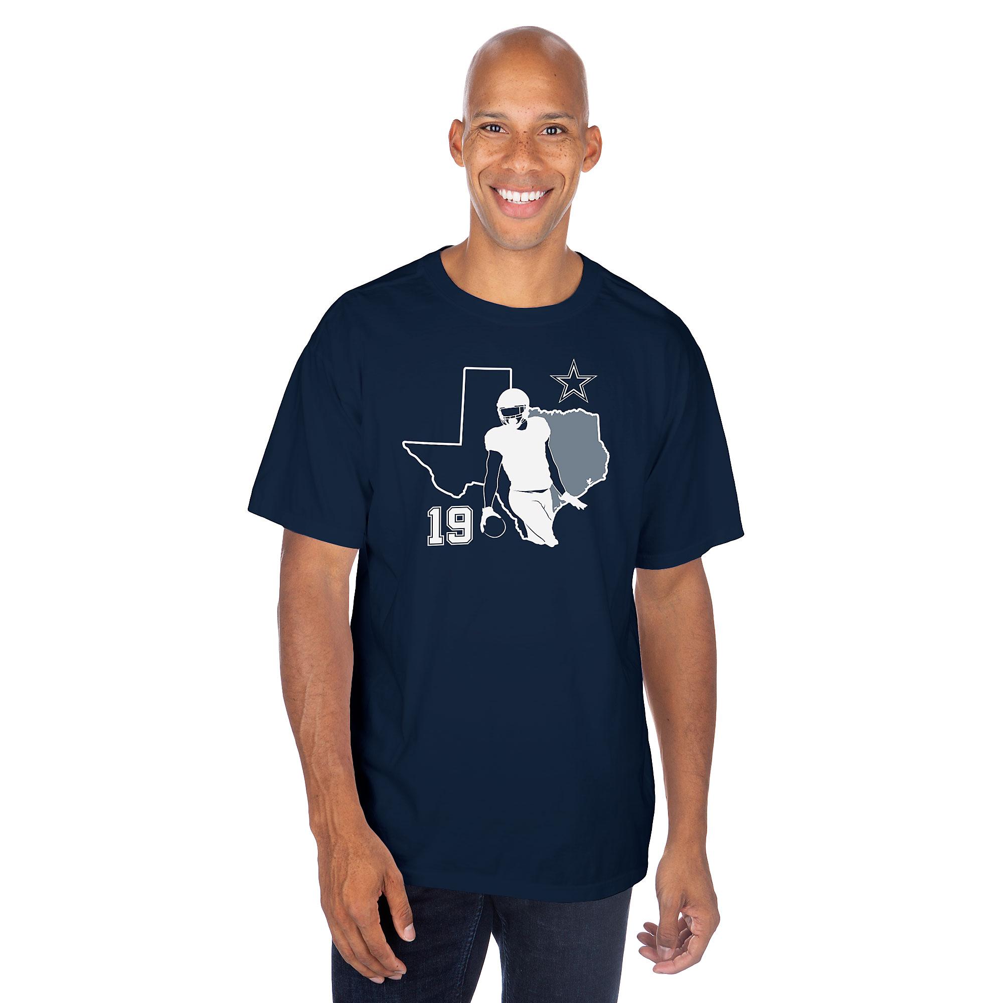 Dallas Cowboys Mens Amari Cooper #19 Silhouette Short Sleeve T-Shirt