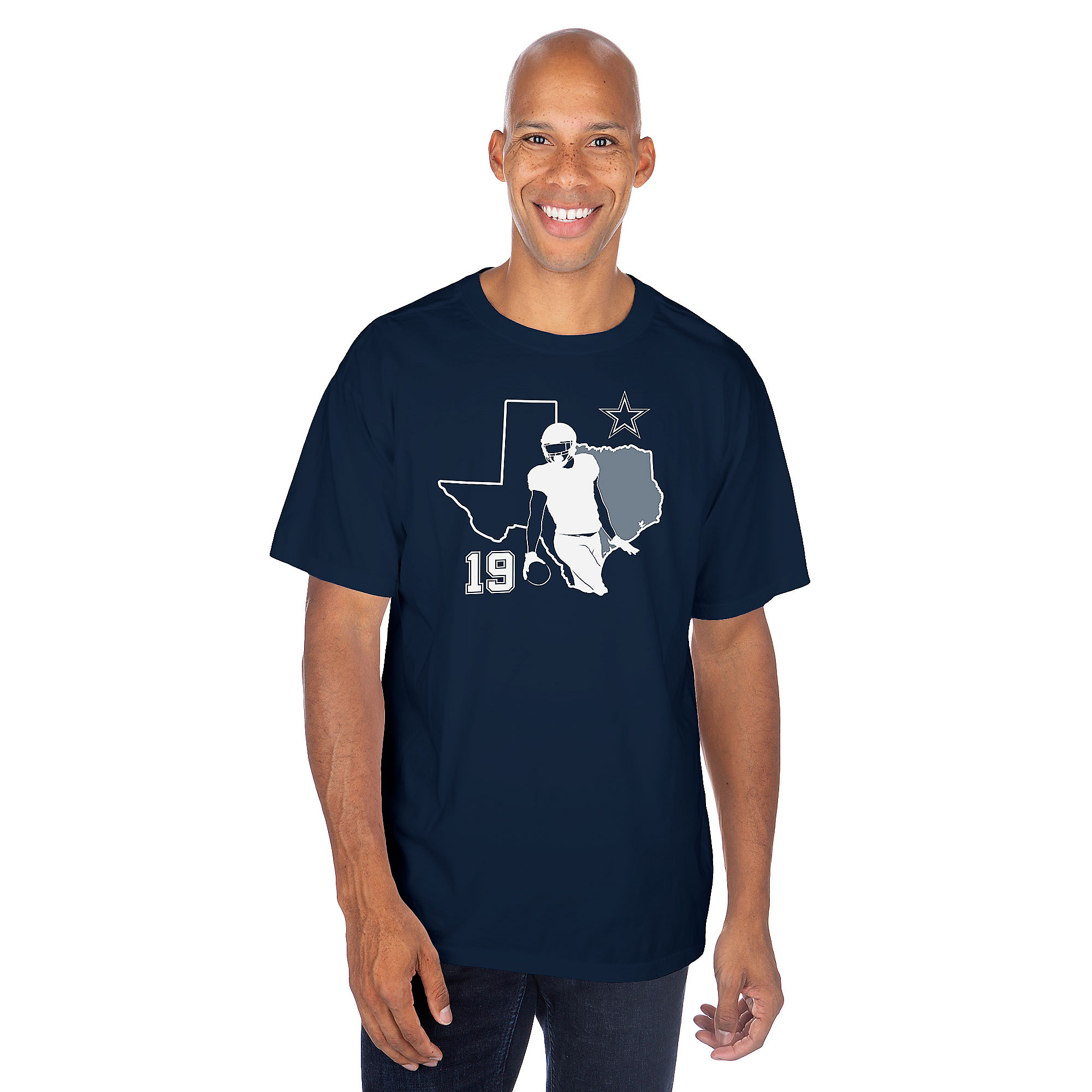 Dallas Cowboys Mens Amari Cooper #19 Silhouette Short Sleeve T-Shirt