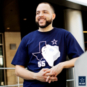 Dallas Cowboys Mens Leighton Vander Esch #55 Silhouette Short Sleeve T-Shirt