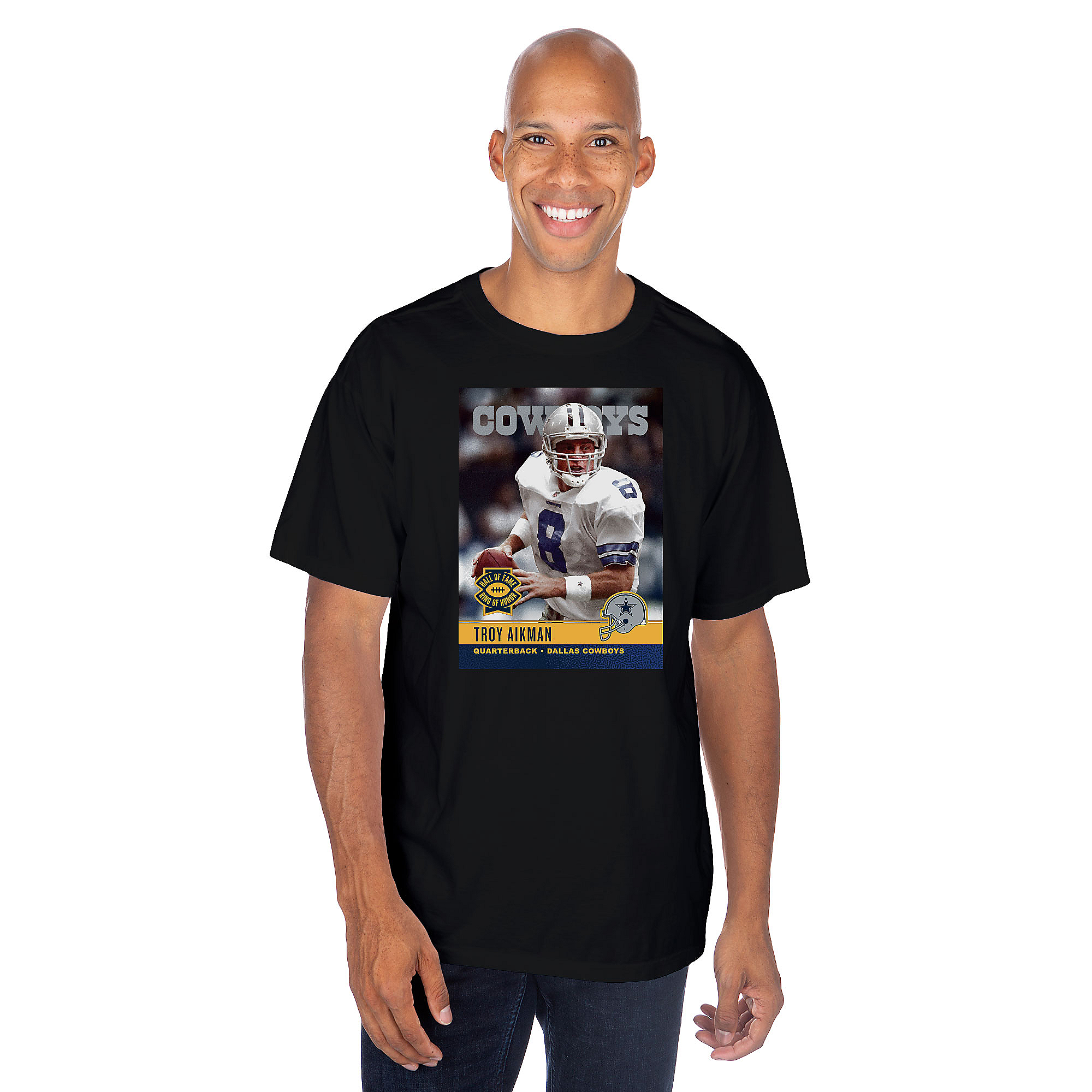 Dallas Cowboys America's Team Troy Aikman #8 T-Shirt