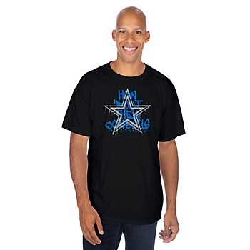 Dallas Cowboys Mens Graffiti Paint Premier Short Sleeve T-Shirt