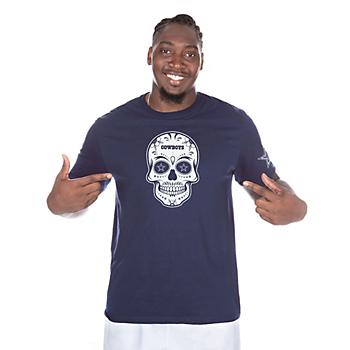 Dallas Cowboys Mens Sugar Skull Short Sleeve T-Shirt