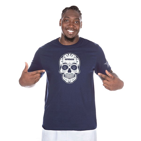Dallas Cowboys Mens Sugar Skull Short Sleeve T-Shirt