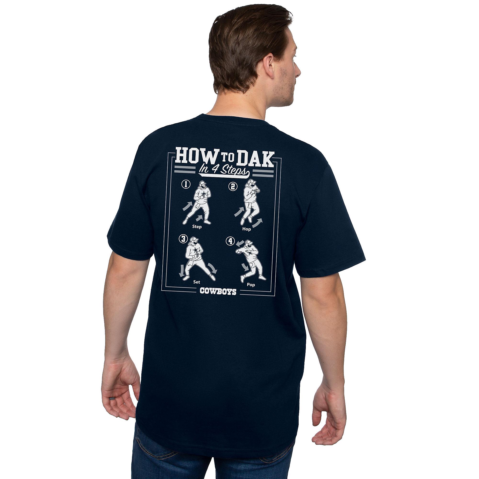 Dallas Cowboys Mens How To Dak Dance Short Sleeve T-Shirt