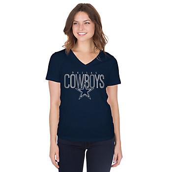 Dallas Cowboys Womens Kathy Short Sleeve T-Shirt
