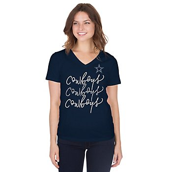 Dallas Cowboys Womens Evalin Short Sleeve T-Shirt