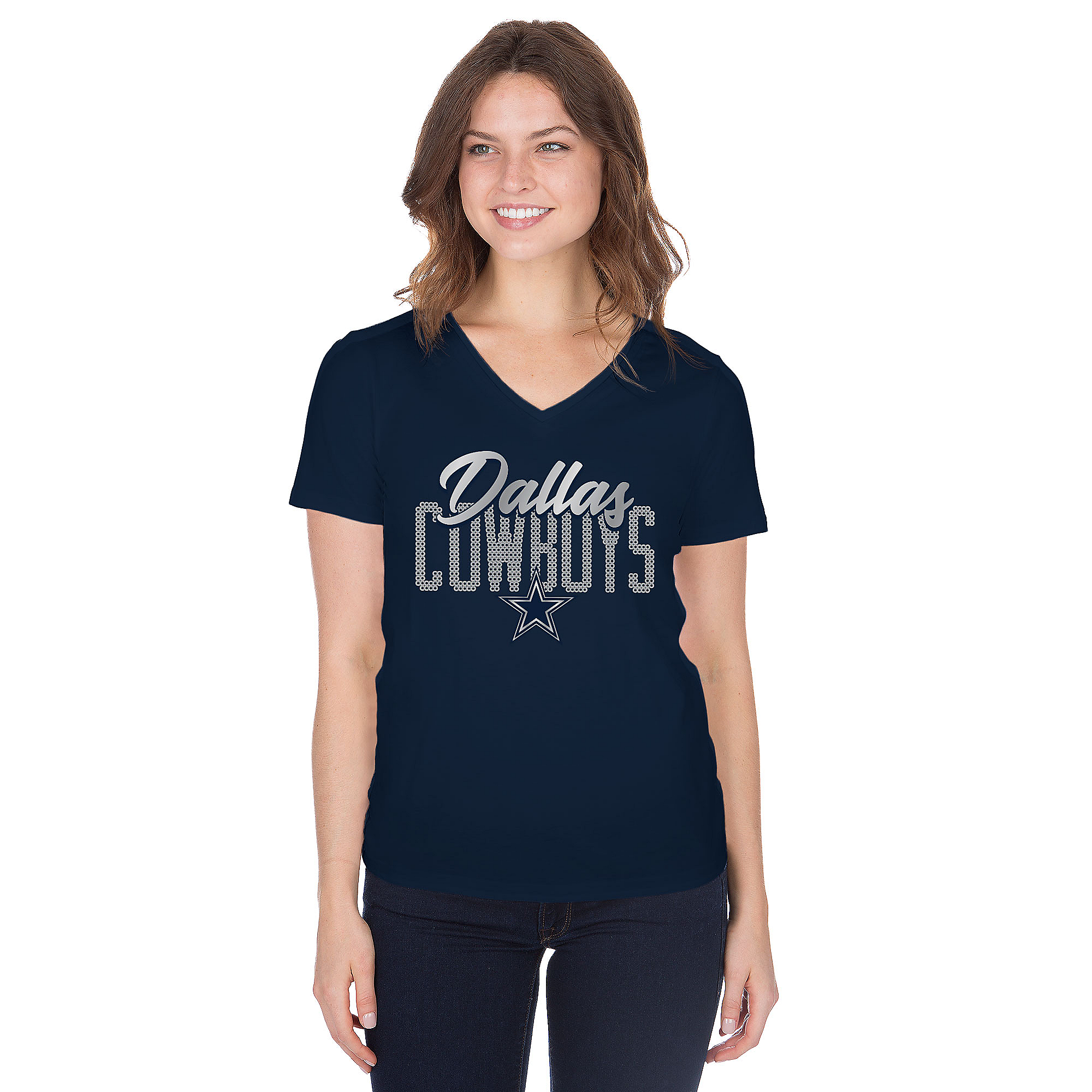 Dallas Cowboys Womens Aelin Short Sleeve T-Shirt