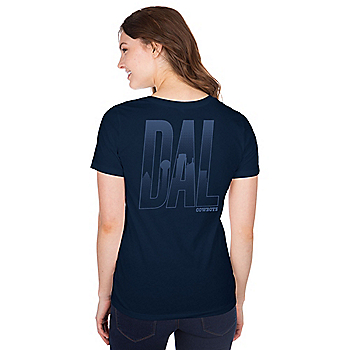 Dallas Cowboys Womens Arwen Short Sleeve T-Shirt