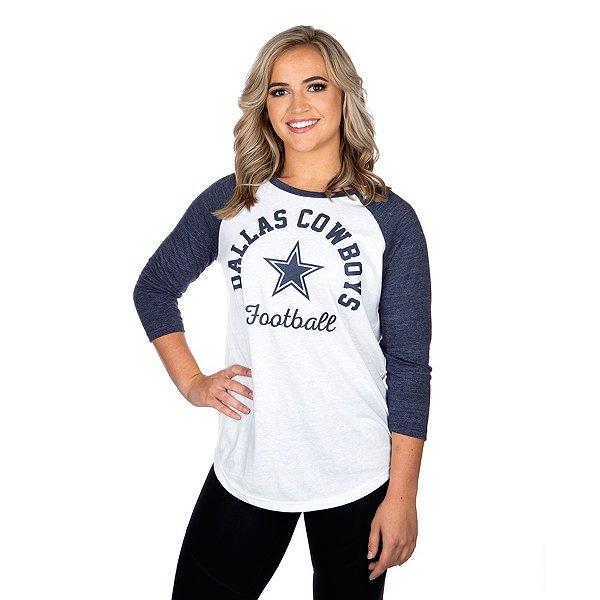 Dallas Cowboys Womens Lorena 3/4 Sleeve T-Shirt