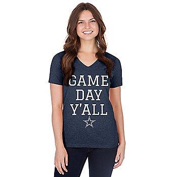 Dallas Cowboys Womens Lisette Short Sleeve T-Shirt