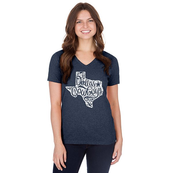 Dallas Cowboys Womens Jenara Short Sleeve T-Shirt