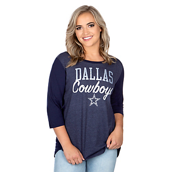 Dallas Cowboys Womens Anita 3/4 Sleeve T-Shirt