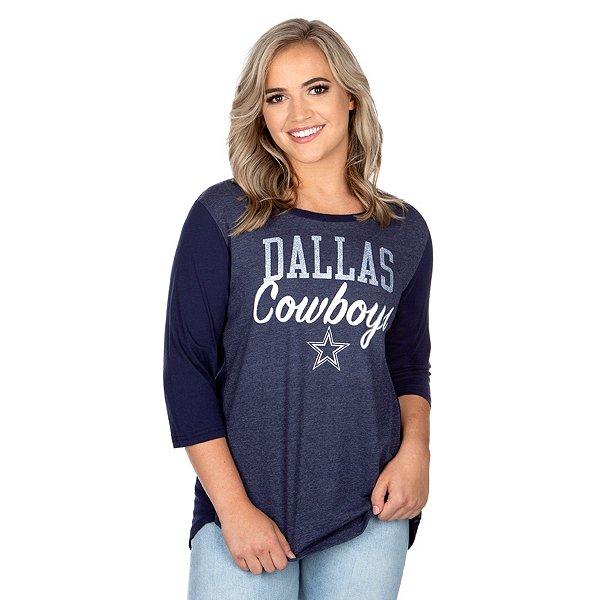 Dallas Cowboys Womens Anita 3/4 Sleeve T-Shirt