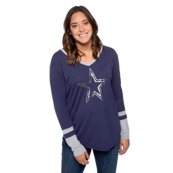 Dallas Cowboys Womens Geneva Long Sleeve T-Shirt