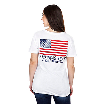 Dallas Cowboys Womens Earhart Short Sleeve T-Shirt