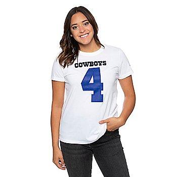 Dallas Cowboys Nike Womens Dak Prescott #4 Player Pride T-Shirt