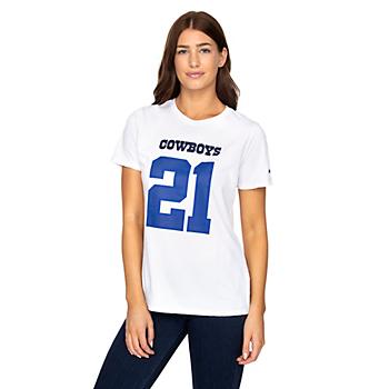 Dallas Cowboys Nike Womens Ezekiel Elliott #21 Player Pride T-Shirt