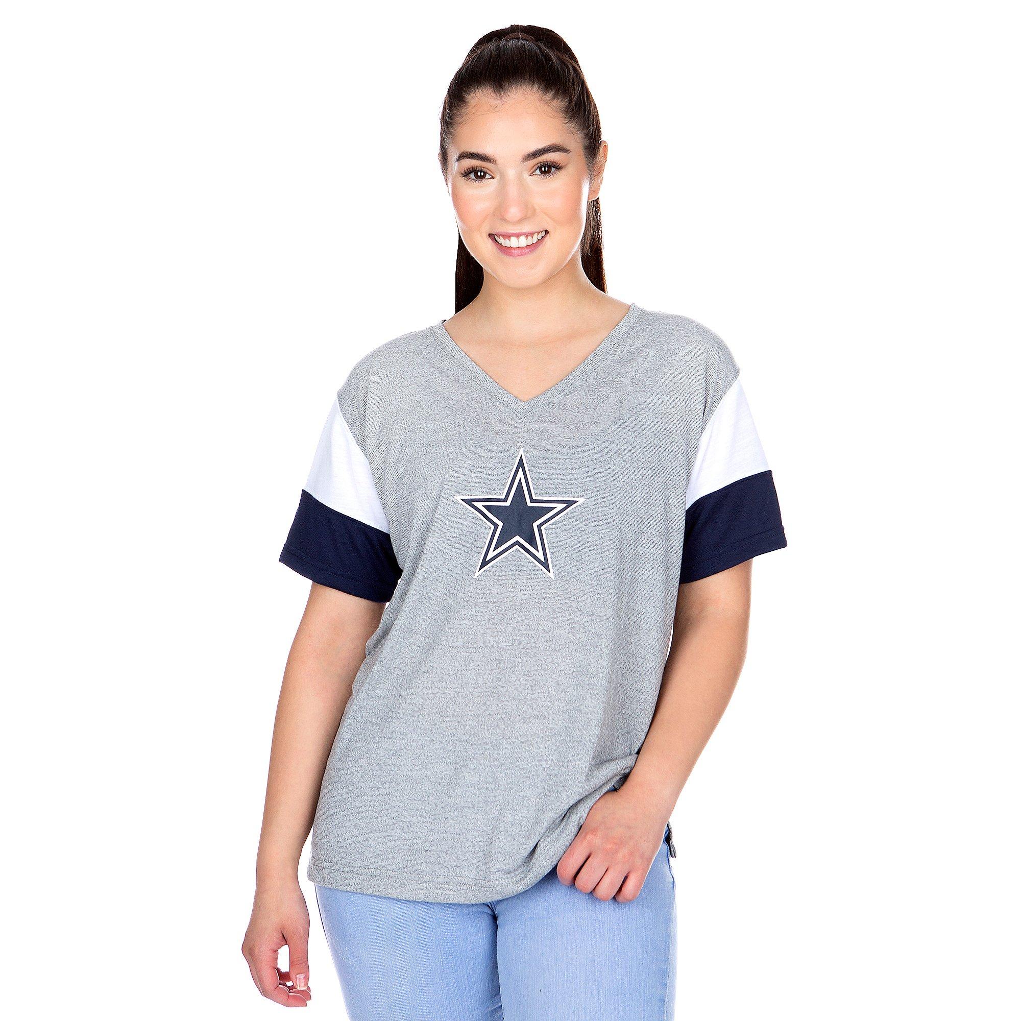 Dallas Cowboys Nike Womens Breathe V-Neck T-Shirt