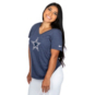 Dallas Cowboys Nike Womens Tri Historic V-Neck Short Sleeve T-Shirt