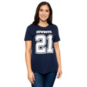 Dallas Cowboys Nike Womens Ezekiel Elliott #21 Player Pride 3 T-Shirt