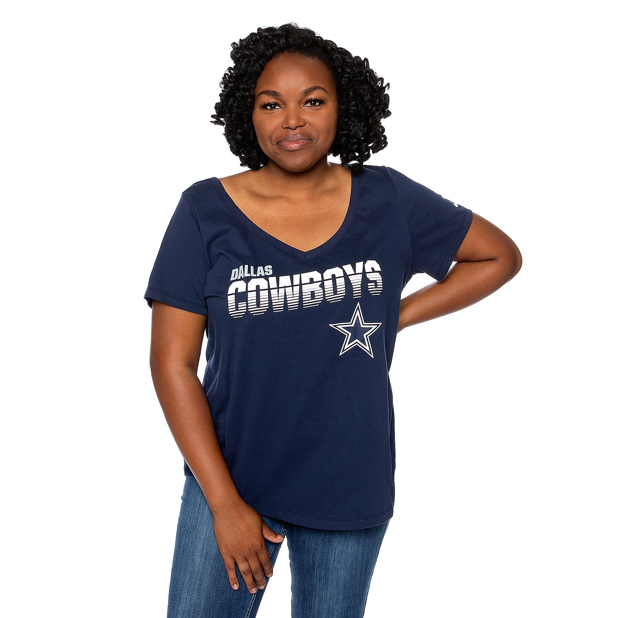 Dallas Cowboys Nike Womens Plus Sideline Short Sleeve T-Shirt