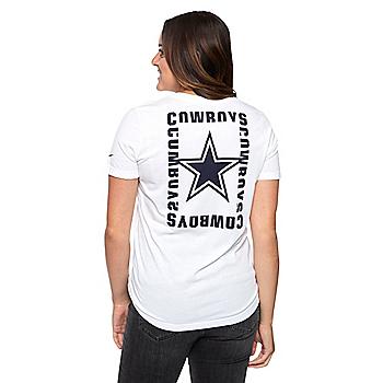 Dallas Cowboys Nike Womens Tri Logo Short Sleeve T-Shirt