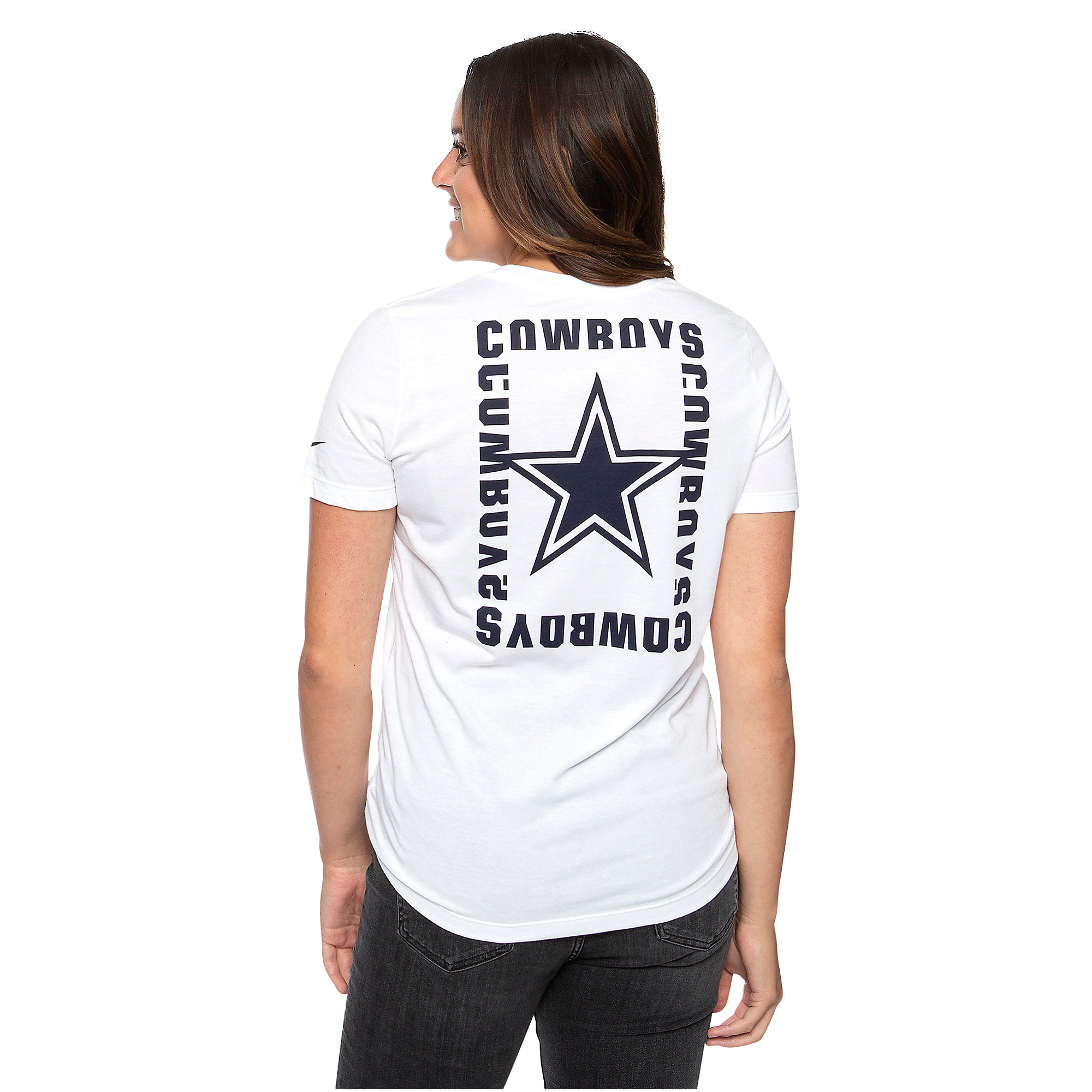 Dallas Cowboys Nike Womens Tri Logo Short Sleeve T-Shirt