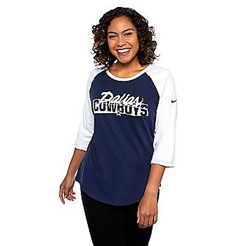 Dallas Cowboys Nike Womens Dri-FIT Raglan T-Shirt