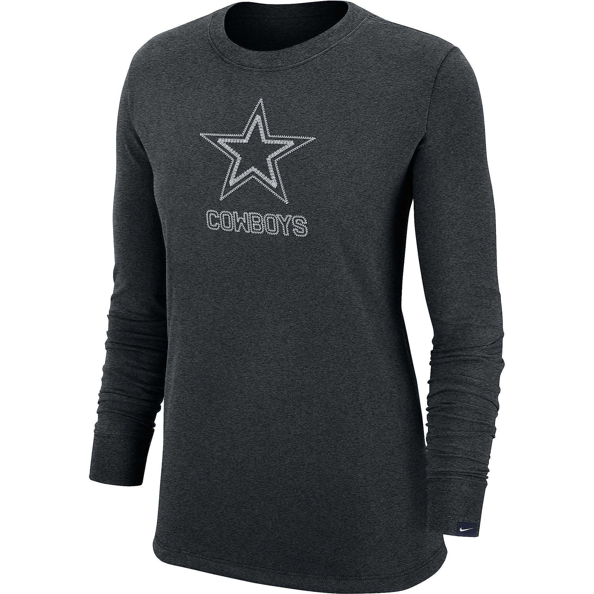 Dallas Cowboys Nike Womens Embroidery Long Sleeve T-Shirt
