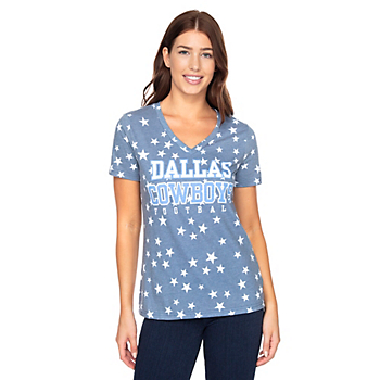 Dallas Cowboys Womens Practice Spinner Short Sleeve T-Shirt