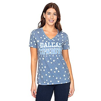 Dallas Cowboys Womens Practice Spinner Short Sleeve T-Shirt