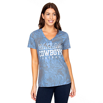Dallas Cowboys Womens Practice Millie Short Sleeve T-Shirt