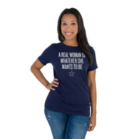 Dallas Cowboys Studio Real Woman Short Sleeve T-Shirt