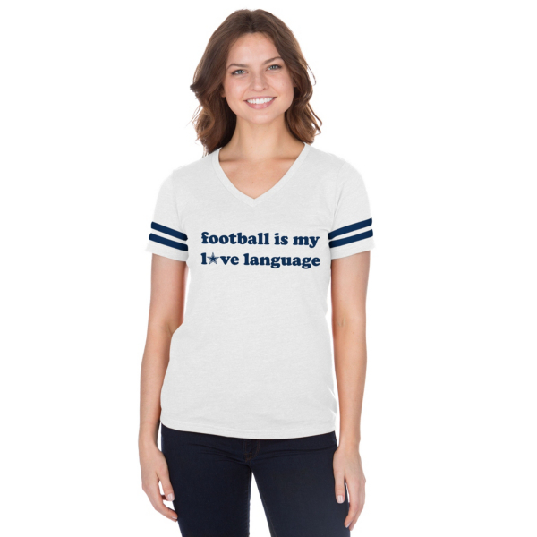 Dallas Cowboys Studio Love Language Short Sleeve T-Shirt
