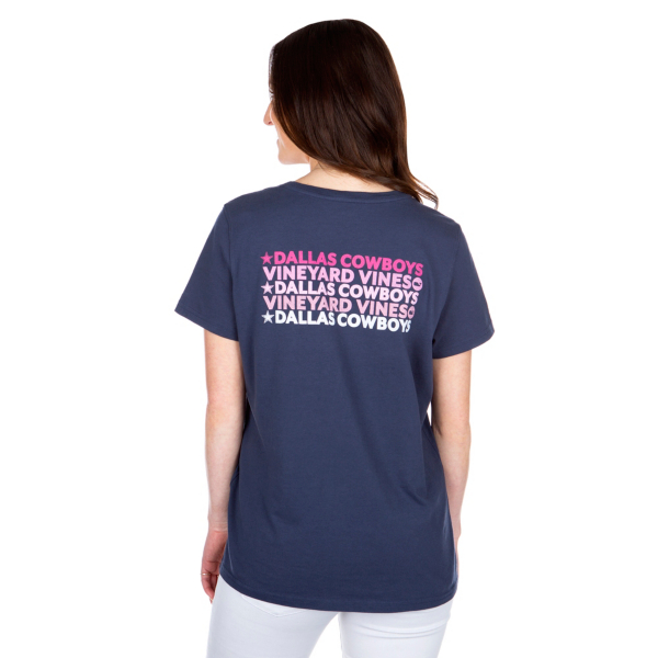 Dallas Cowboys Vineyard Vines Womens Text Short Sleeve T-Shirt