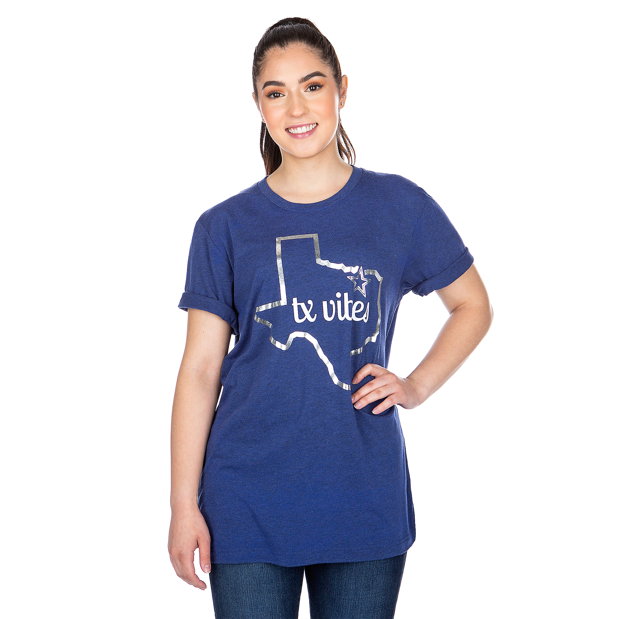 Dallas Cowboys Studio TX Vibes Short Sleeve T-Shirt