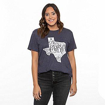 Dallas Cowboys Team LJ Womens Short Sleeve State Mayhem T-Shirt