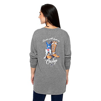 Dallas Cowboys Team LJ Womens Born With Boots T-Shirt