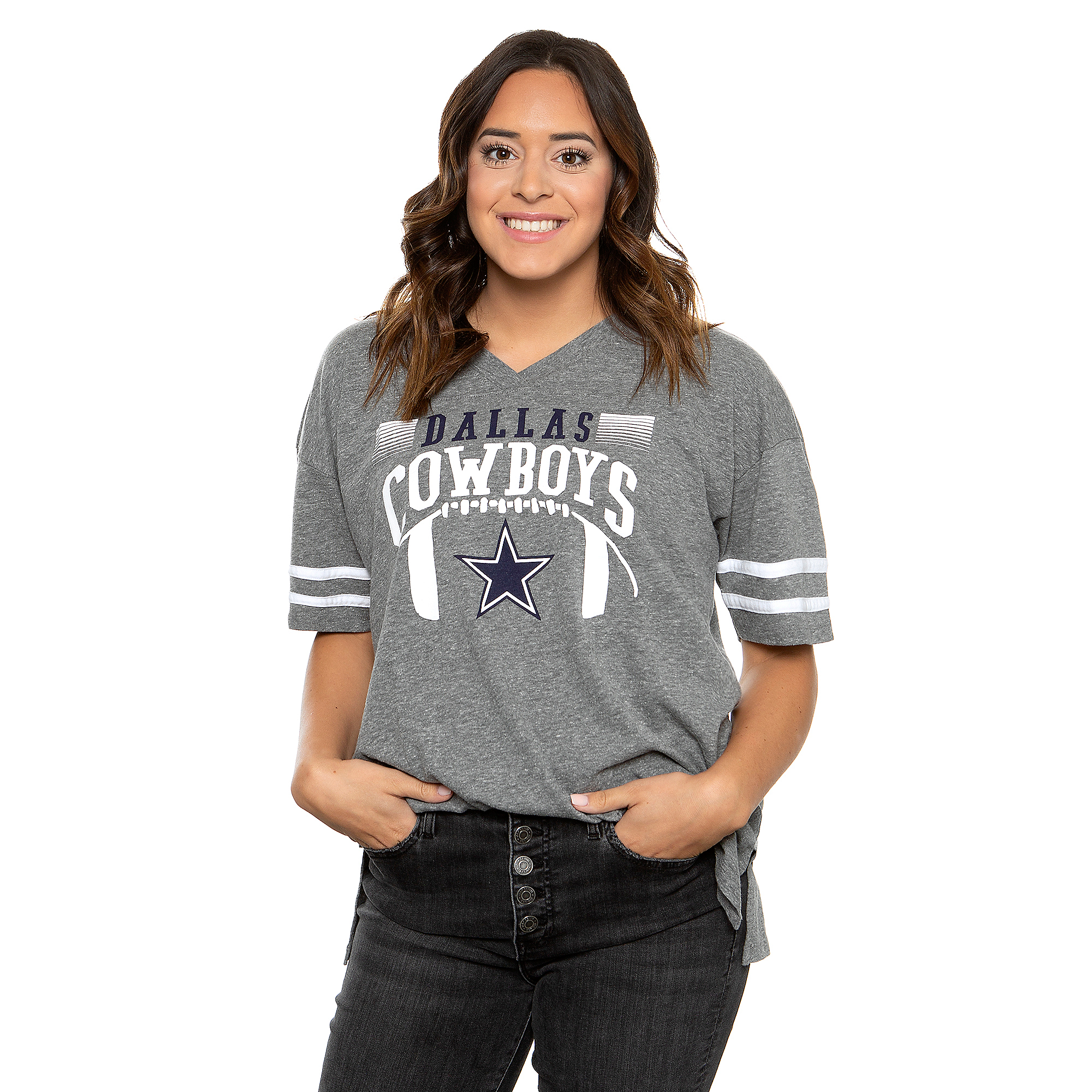 Dallas Cowboys Lauren James Womens Retro Jersey T-Shirt