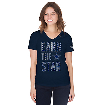Dallas Cowboys Womens Training Camp Earn The Star T-Shirt