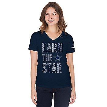 Dallas Cowboys Womens Training Camp Earn The Star T-Shirt