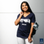 Dallas Cowboys Womens Stripe Skyline Short Sleeve T-Shirt