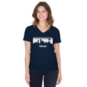 Dallas Cowboys Womens Stripe Skyline Short Sleeve T-Shirt