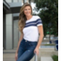 Dallas Cowboys WEAR By Erin Andrews Womens Striped Short Sleeve T-Shirt